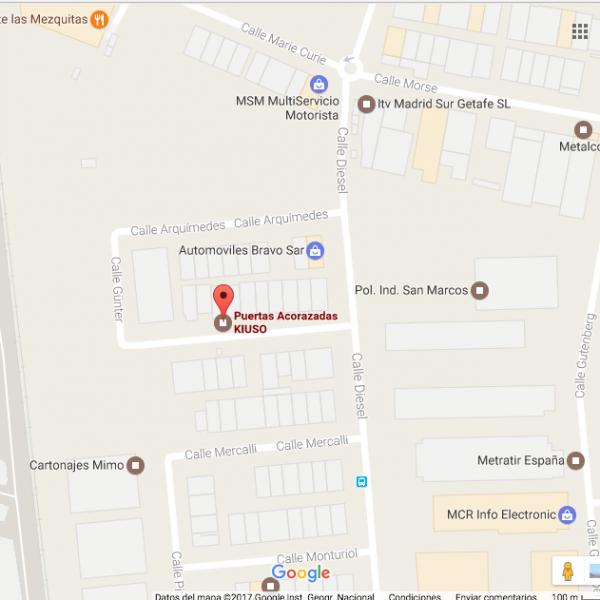 Mapa kiuso Calle brinell 14