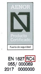 Certificado AENOR Grado 4
