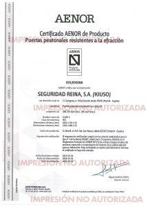 Certificado Grado 5 AENOR