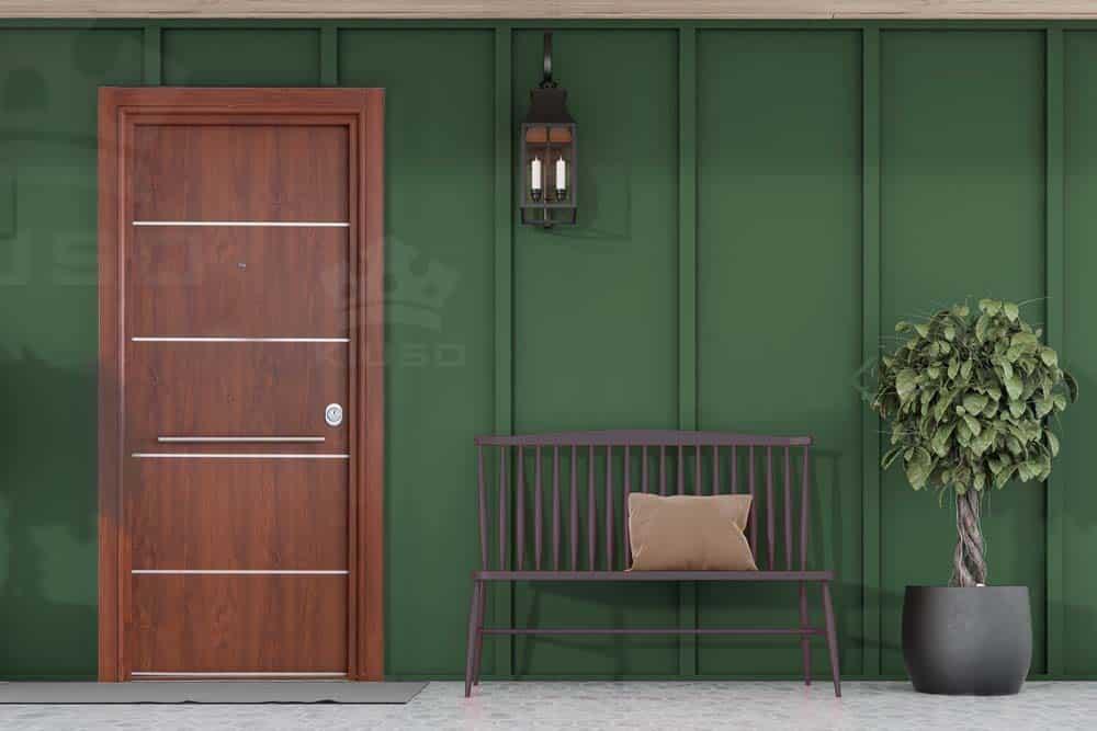 Puerta acorazada o blindada exterior
